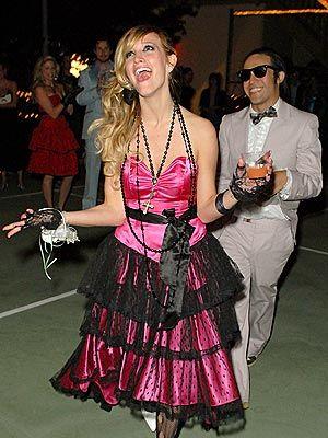 Ashlee Simpson's '80s Prom Night Birthday | 80s prom dress costume .