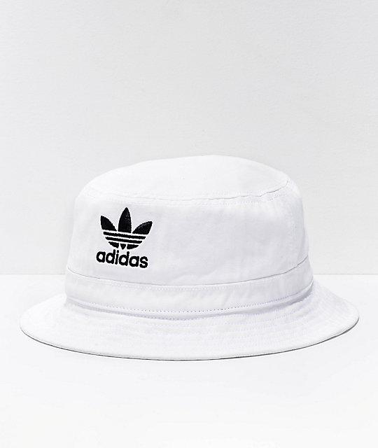 adidas Originals White Denim Bucket Hat | Zumi