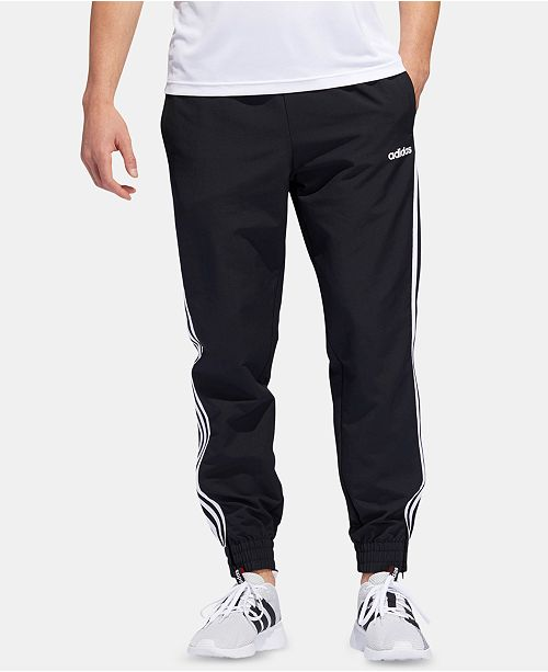 adidas Men's Three-Stripe Woven Joggers & Reviews - All Activewear .