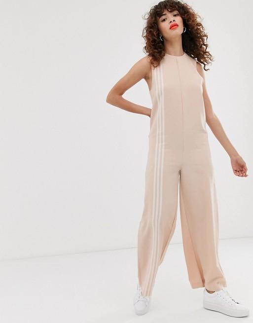 adidas Originals TLRD jumpsuit in beige | AS