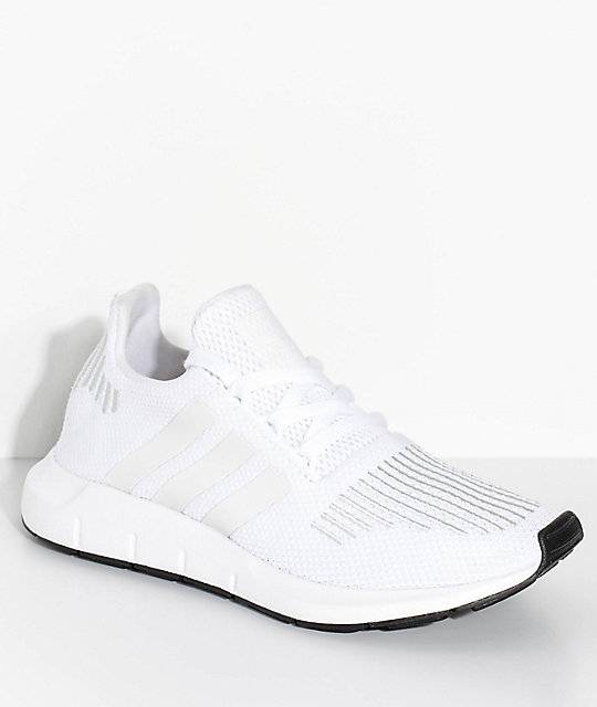 adidas Kids Swift Run White & Crystal Shoes | Zumi