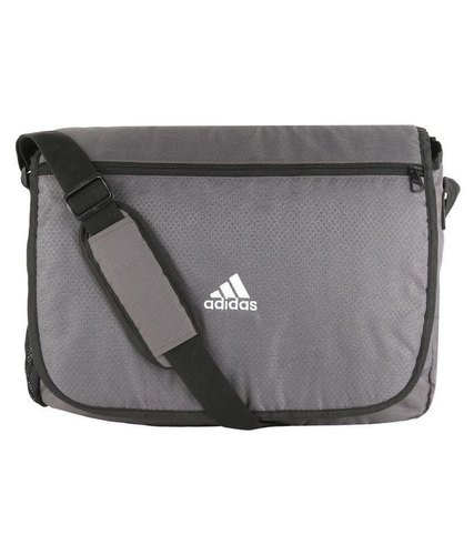 Adidas-Gray-Polyester-Casual-Messenger Bag, मैसेंजर बैग .
