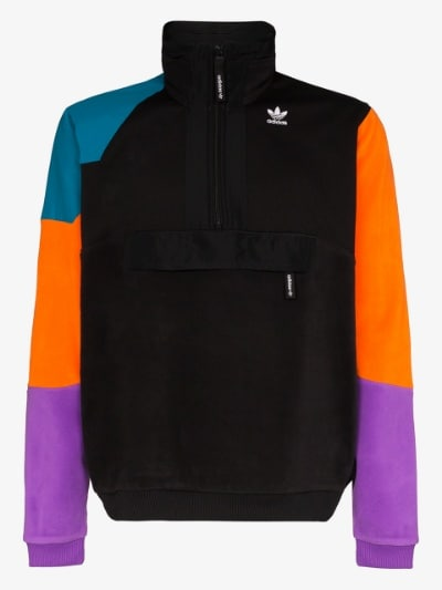 adidas black originals PT3 fleece jacket | Brow