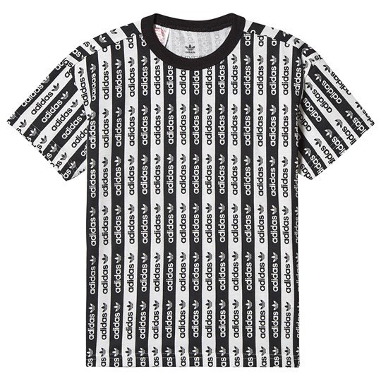 adidas Originals - Stripe Double Logo T-Shirt Black/White .