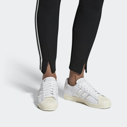 Shop for Adidas SUPERSTAR 80S SHOES CLOUD WHITE/GREY/OFF WHITE .