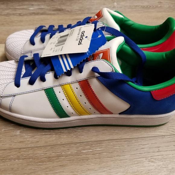 adidas Shoes   Retro Multicolor Superstar Ii Cb Mens New   Poshma