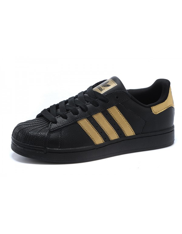 popular adidas superstar II Bling Pack Mens & Womens Black/Gold .