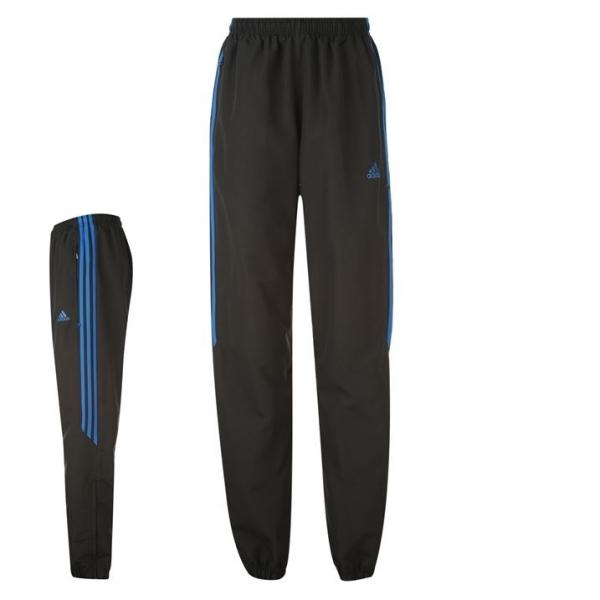 Adidas Samson Woven Tracksuit Bottoms Black & Blue Large .