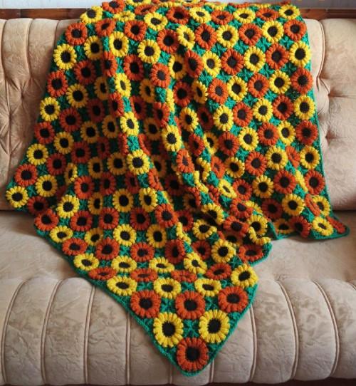 crochet afghan blanket with flowers pattern pdf 146 | marifu6a on .
