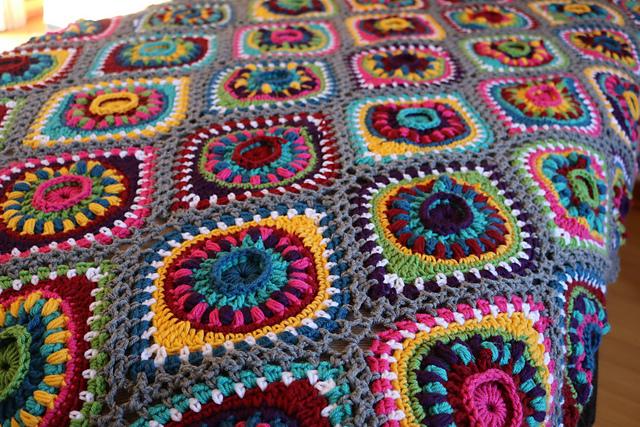 Boho Ornament Afghan Blanket Free Crochet Pattern | Free Crochet .