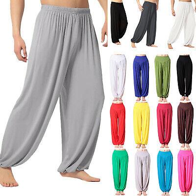 Mens Womens Casual Baggy Loose Harem Trousers Aladdin Pants Yoga .