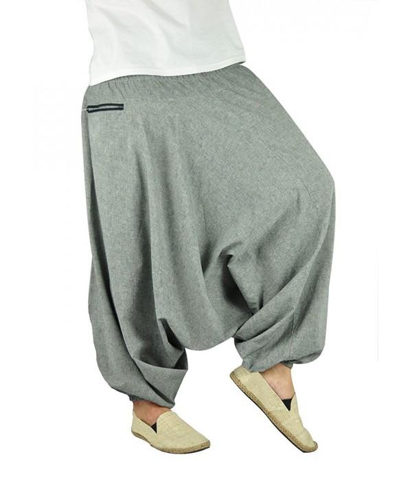 Harem Pants Men and Women Aladdin Pants With Zip Pocket - überlegt .