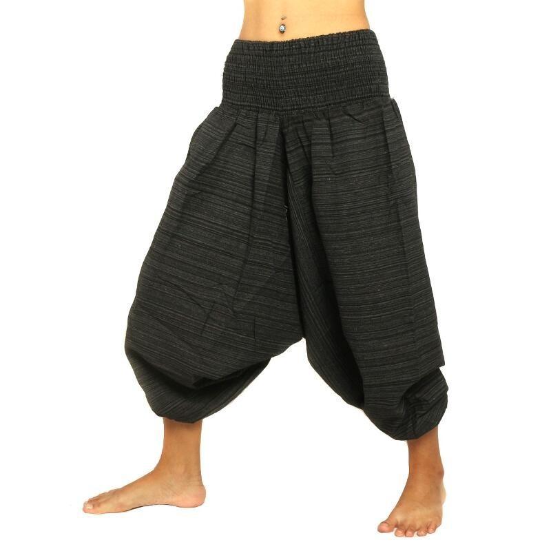 Pum pants black cotton mix TCMA-