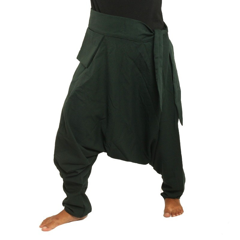 Aladdin Pants - with small side pocket to the side dark green MPCP