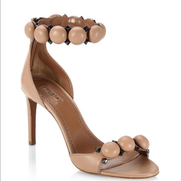 Alaia Shoes   Alaa Leather Sandals Bombe   Poshma