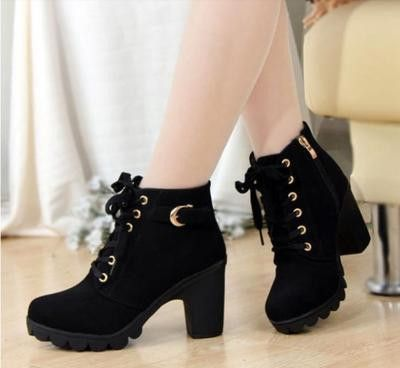 Classic ankle length heel boots for the charming woman - Cute .