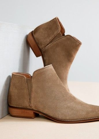 Flat suede ankle boots - Women | MANGO | Suede ankle boots, Boots .