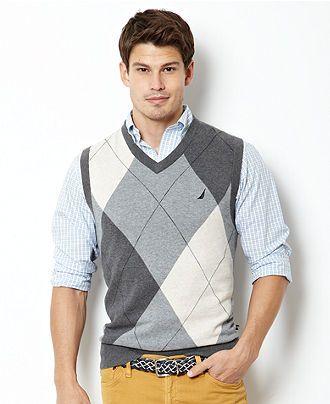 Nautica Sweater, Argyle Sweater Vest - Mens Sweaters - Macy's .