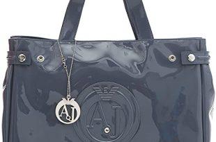 Amazon.com: Armani Jeans Medium Embossed Logo Patent Vinyl Bag .