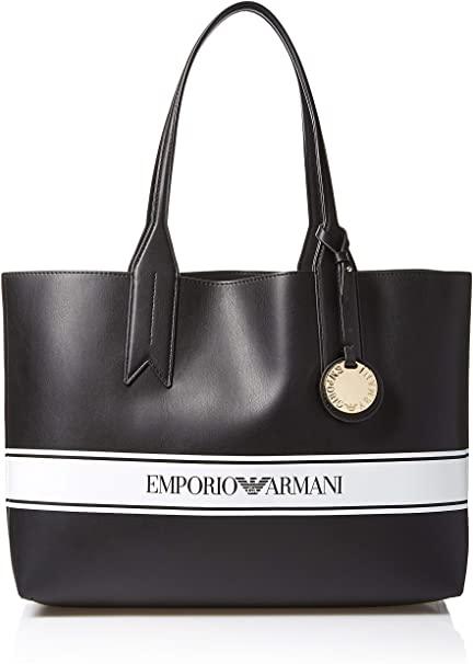 Amazon.com: Emporio Armani Designer Logo Stripe Shoulder Tote Bag .