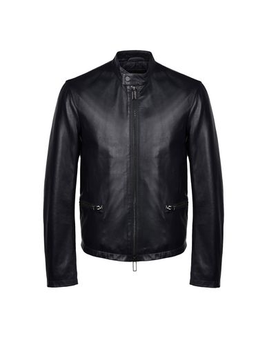 Emporio Armani Leather Jacket - Men Emporio Armani Leather Jackets .