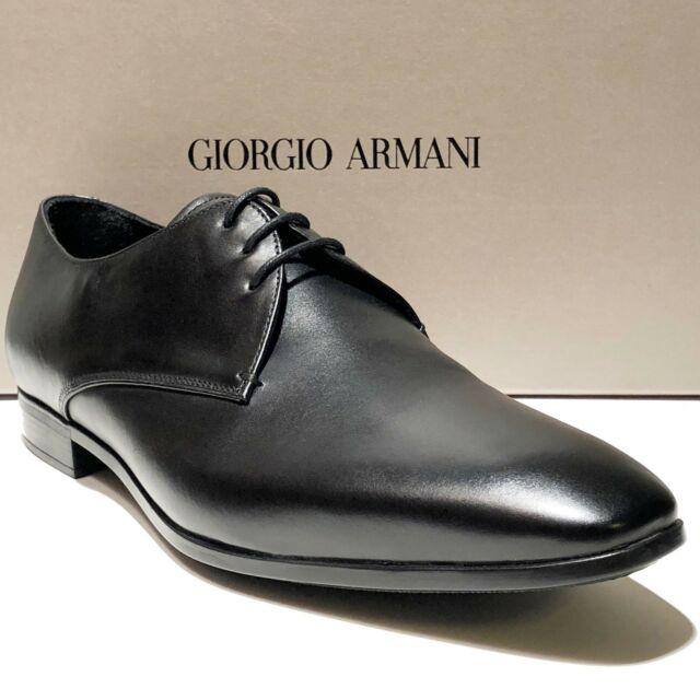 Giorgio Armani Mens Leather Lace-up Dress Shoes Black 8 UK (9 Us .