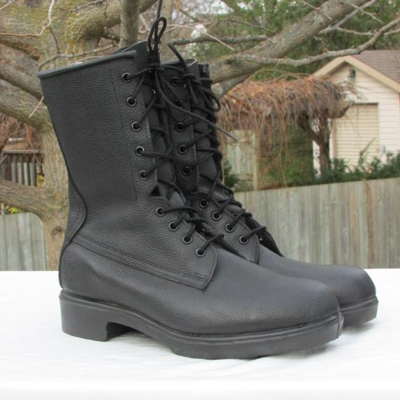 Combat Boots Military Field Boots Army Boots Black Leather | Et