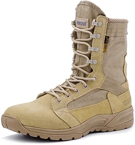 Amazon.com: IODSON Men's Ultralight Combat Boots, Breathable .