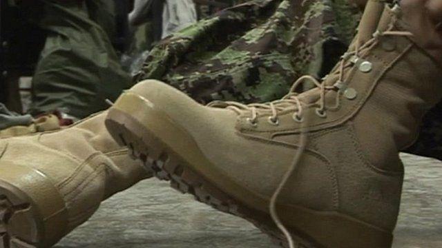 Afghanistan army boot deal row - BBC Ne