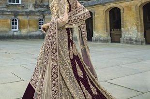 Indian maroon and gold beaded dress | Pakistani bridal wear, Asian .
