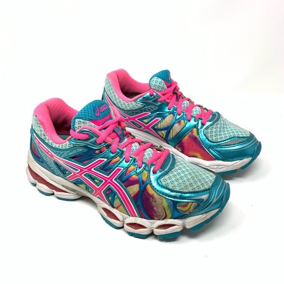 Asics Shoes | Gel Nimbus 16 Rainbow Neon Running Shoe | Poshma