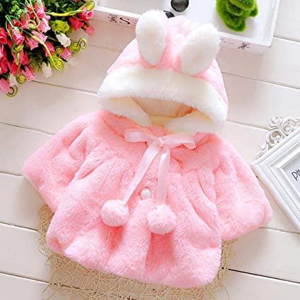 Amazon.com: Gotd Newborn Baby Girls Autumn Winter Hooded Coat .