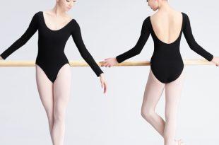 Teen Girls Ballerina Ballet Dance Leotard Dance Wear Black Cotton .