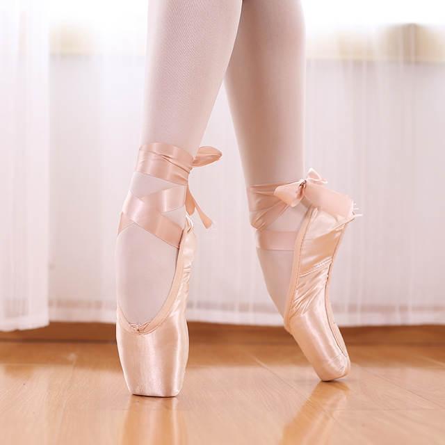 Online Shop TIEJIAN Professional Ballet Pointe Shoes Canvas Satin .