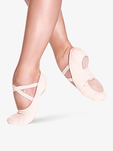 """Bliss"""" Stretch Canvas Split-Sole Ballet Shoes - Ballet Shoes   So ."""