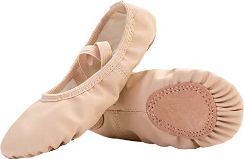 Amazon.com | FEETCITY Girls Leather Ballet Dance Shoes Women .