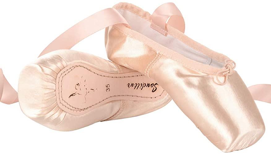 Amazon.com | Soudittur Girls Womens Ballet Pointe Shoes Satin .