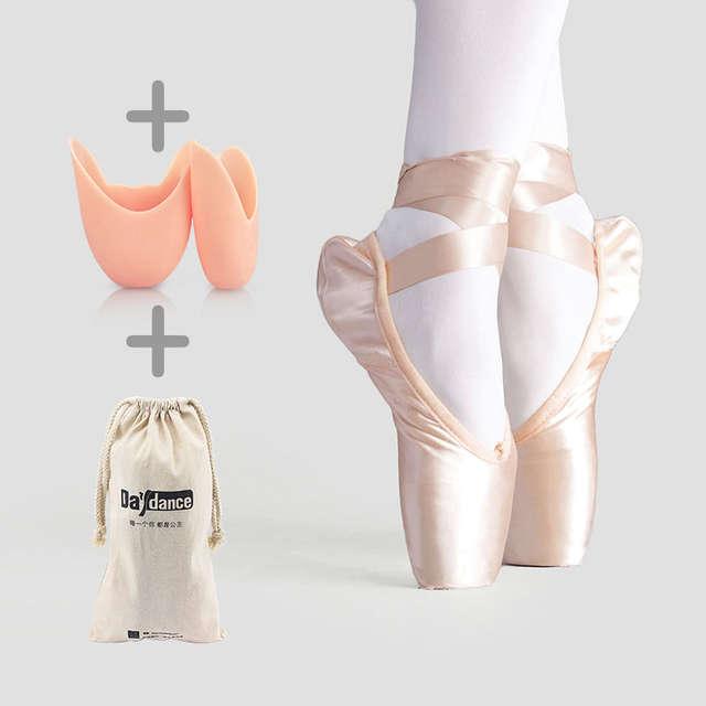 Professional Satin Canvas Dance Ballet Pointe Shoes Girls Adult .