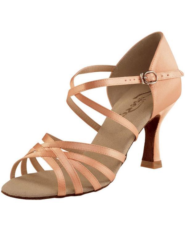 """Capezio Rosa Satin Social Dance 2.5"""" Latin Ballroom Shoes - SD02S ."""