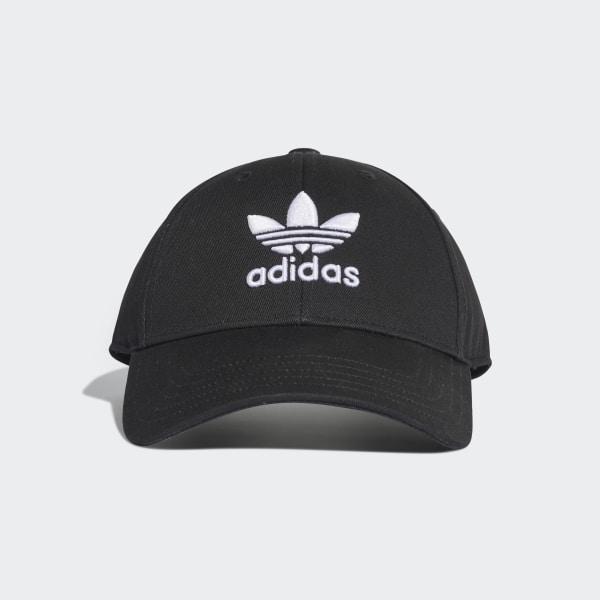 adidas Trefoil Baseball Cap - Black   adidas