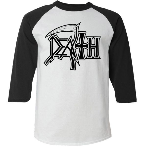 "Death ""New Logo"" Baseball Tee - Relapse Recor"