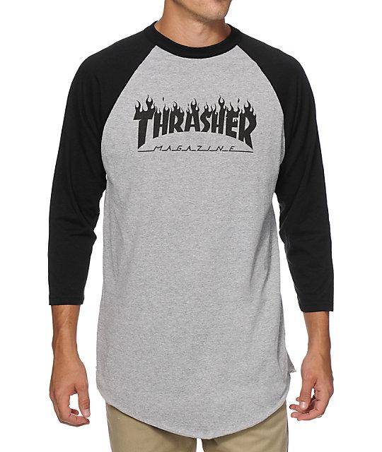 Thrasher Flame Baseball T-Shirt | Zumi