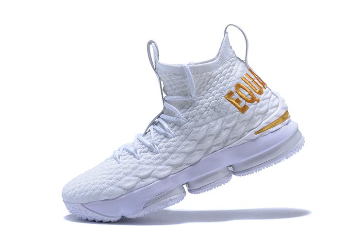 Wholesale Nike LeBron XV 15 EP White Gold Equality Men's Sneaker .