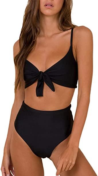 Amazon.com: Blooming Jelly Womens High Waisted Bikini Set Tie Knot .