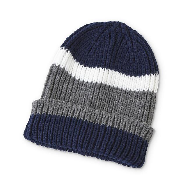Simply Styled Men's Beanie Hat - Strip