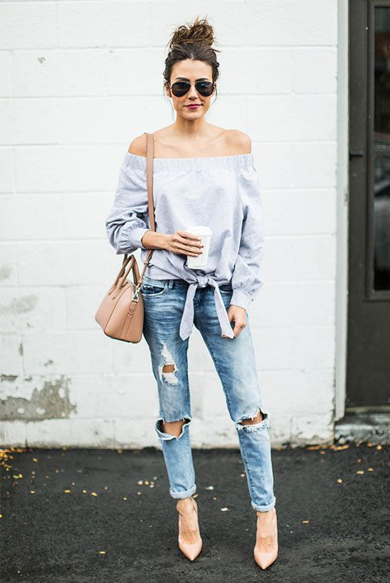 Best outfit, Casual wear, Ripped jeans on Stylevo