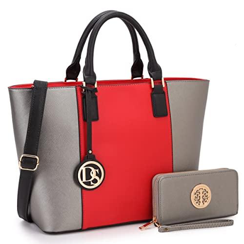 Big Large Red Tote Handbags: Amazon.c