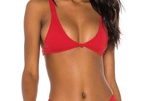 MINIMALE ANIMALE The Aura Bikini Top in Cherry Bomb | REVOL