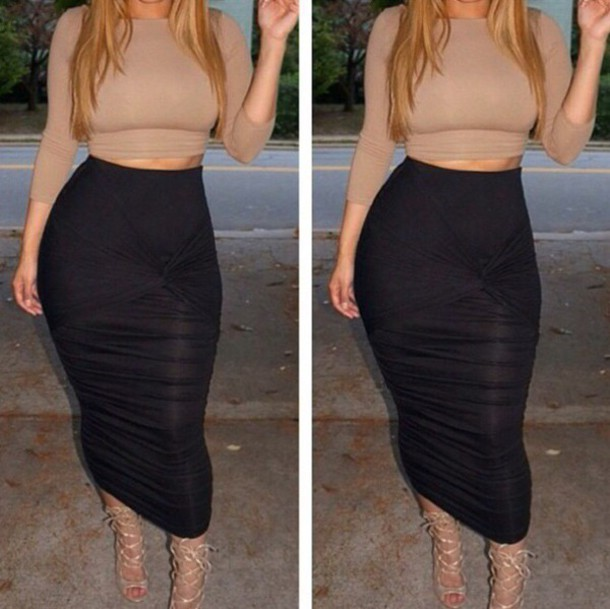 Pin by Mina Avril on Two Piece outfit set Inspiration | Black .