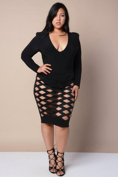 dress, plus size, plus size dress, clubwear, black dress, bodycon .